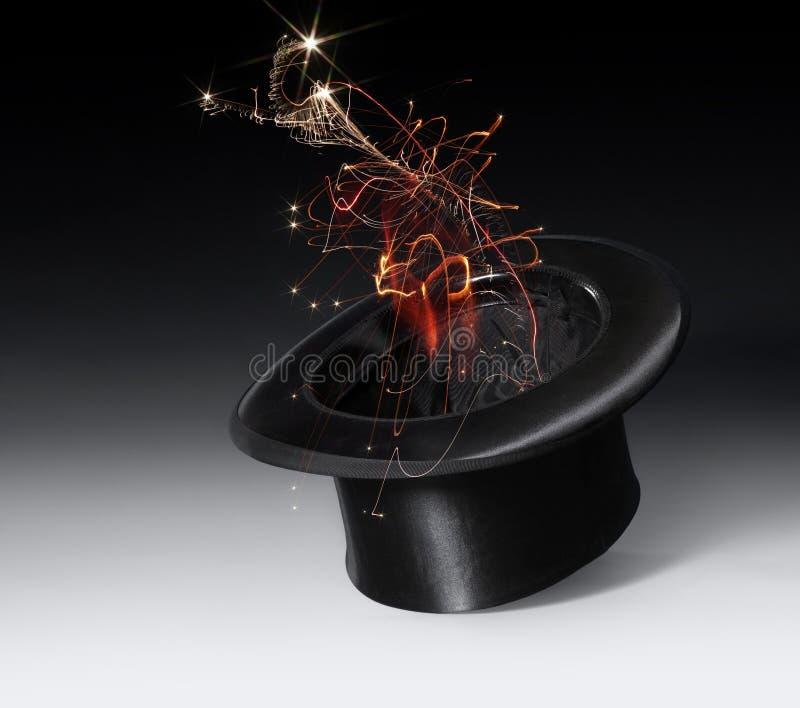 Chapéu mágico do stovepipe fotografia de stock