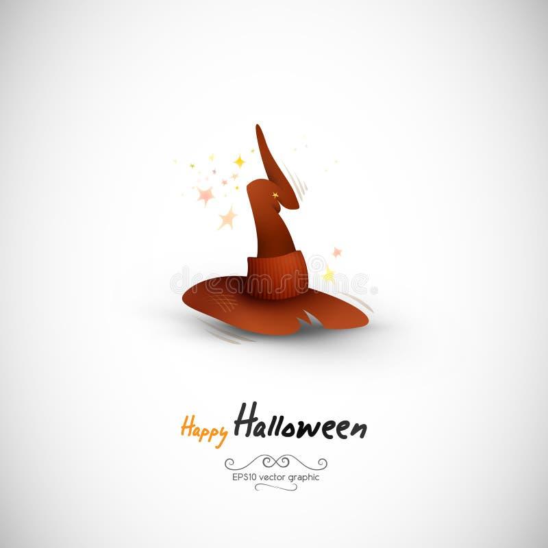 Chapéu misterioso da bruxa de Halloween ilustração stock
