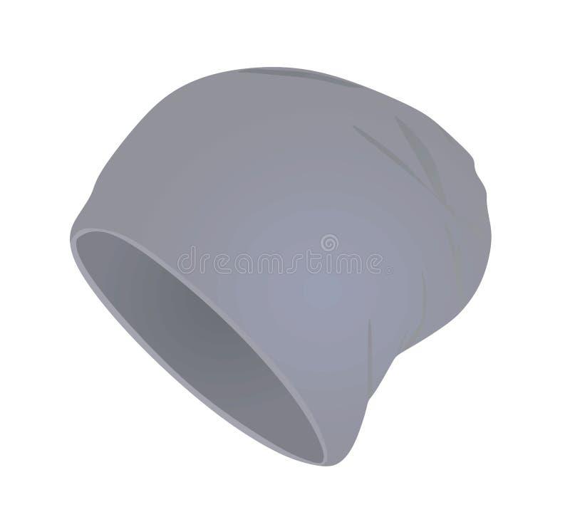 Chapéu moderno cinzento ilustração royalty free