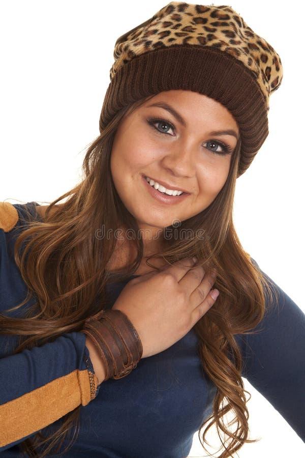 Chapéu morno do bracelete de couro imagens de stock royalty free