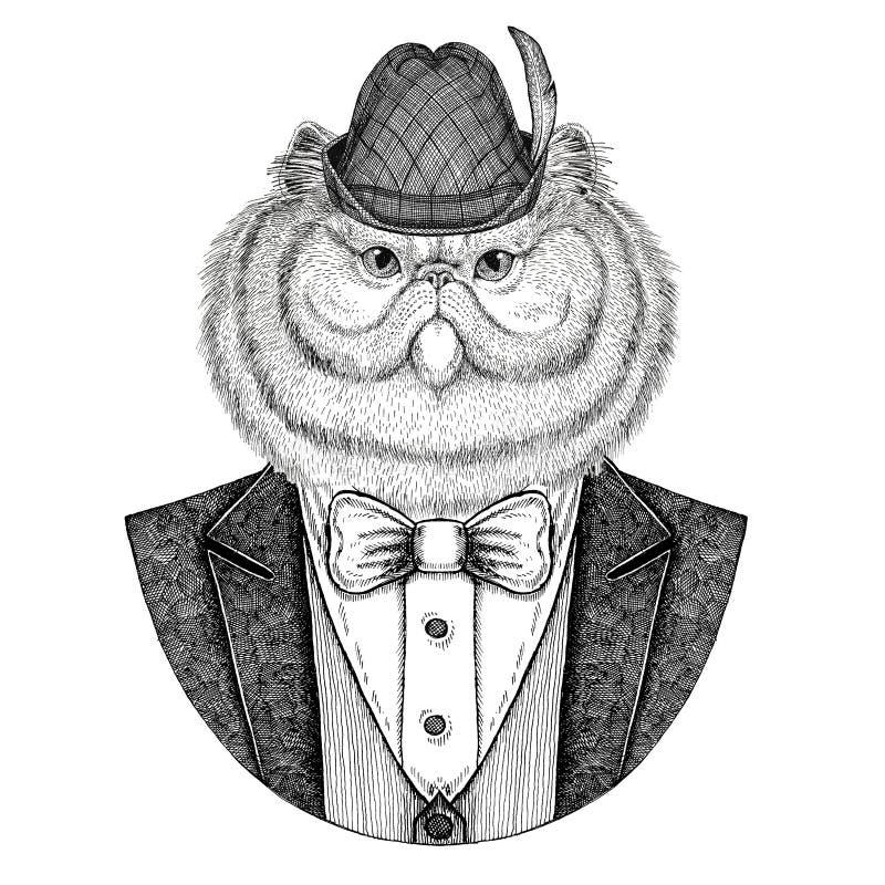 Chapéu nacional bávaro do chapéu de Tirol do alemão ilustração stock