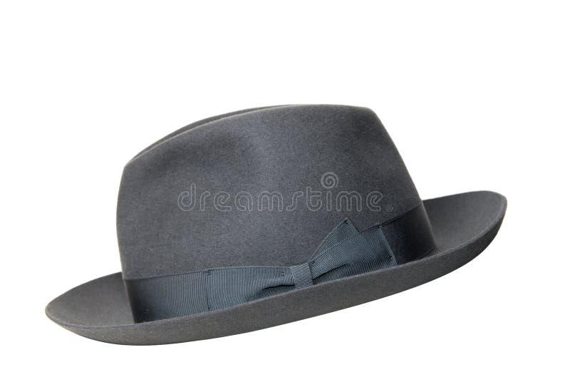 Chapéu negro retro isolado fotos de stock