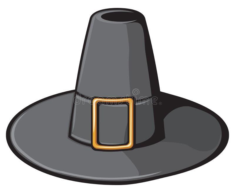 Chapéu preto do peregrino ilustração stock