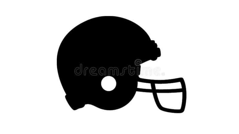 Chapéu protetor do futebol simples ilustração stock