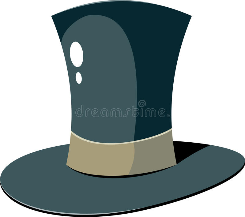 Chapéu superior ilustração stock