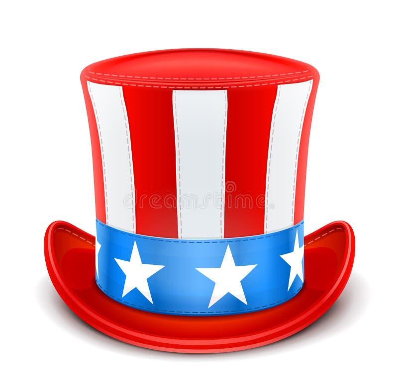 Chapéu superior dos EUA para o Dia da Independência ilustração royalty free
