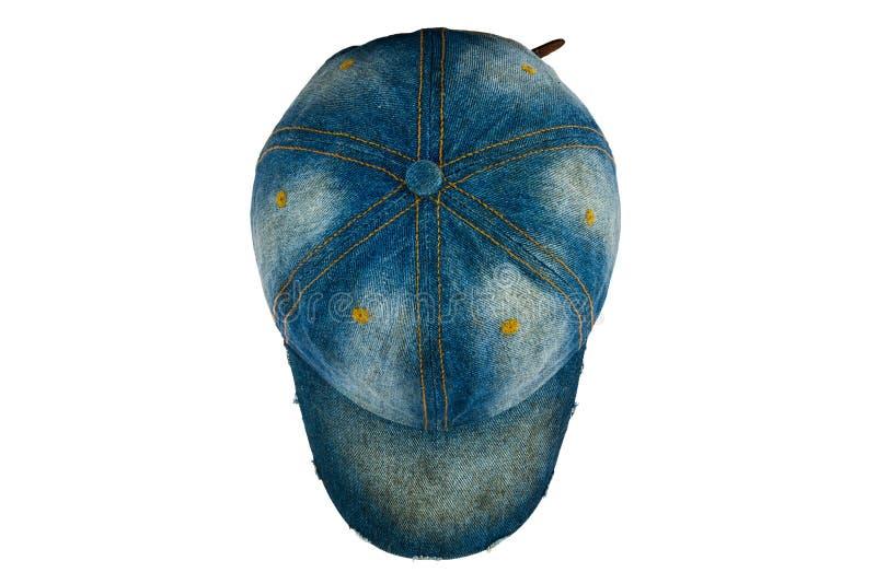 Chapéu velho de brim foto de stock