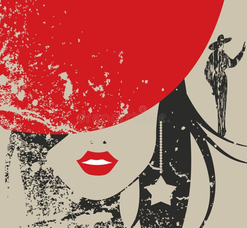 Chapéu vermelho ilustração stock