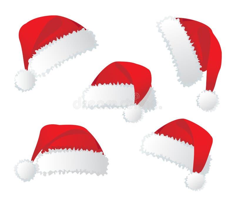 Chapéu vermelho de Santa. ilustração stock