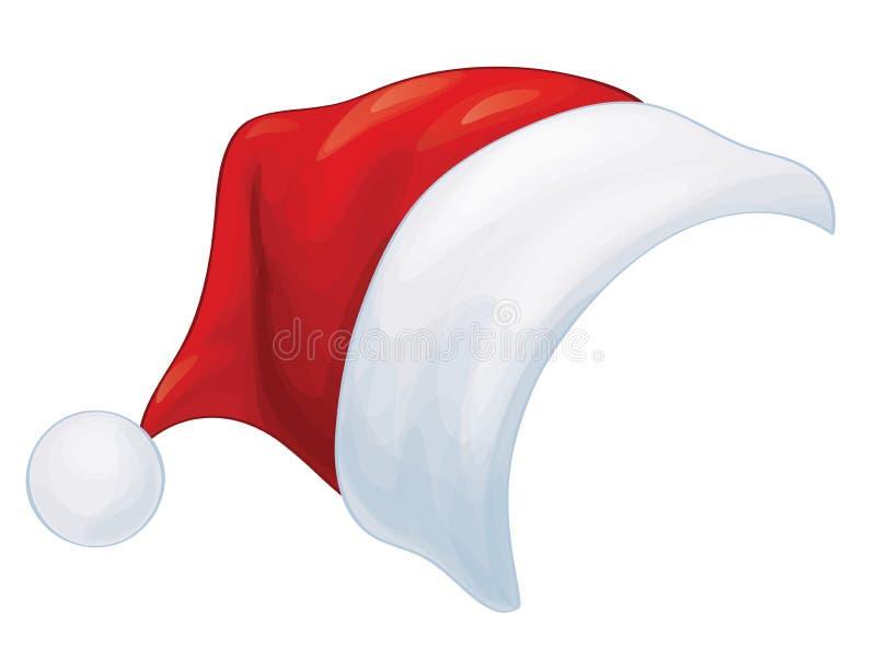 Chapéu vermelho de Santa Claus do vetor ilustração do vetor