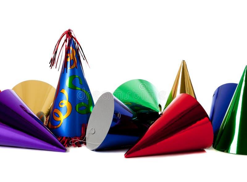 Chapéus da festa de anos fotos de stock royalty free