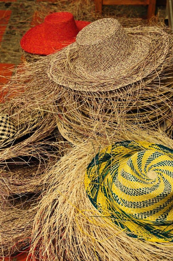 Chapéus de Equador, Panamá fotografia de stock royalty free