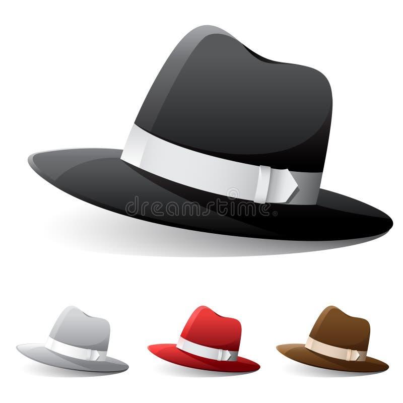 Chapéus de Fedora ilustração royalty free