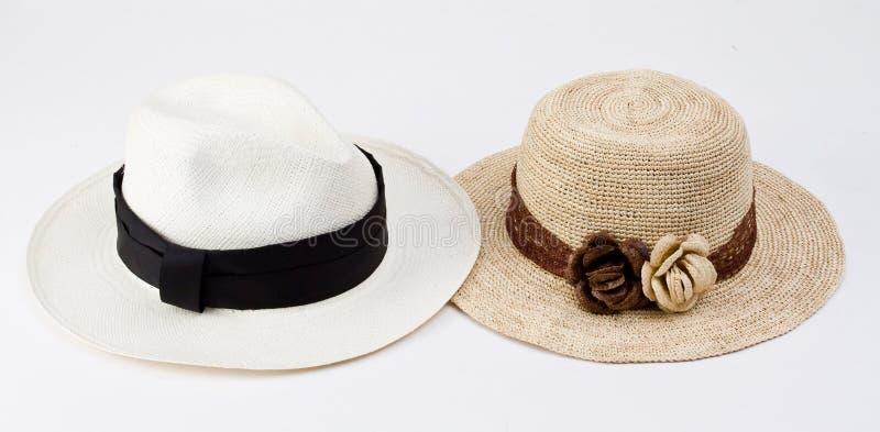 Chapéus de Panamá tradicionais de Equador fotografia de stock