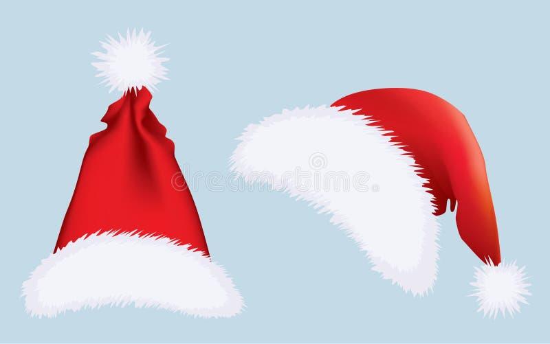 Chapéus de Santa ilustração royalty free