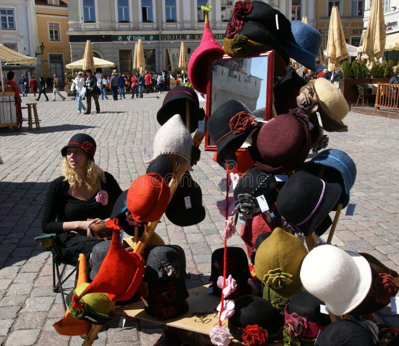 Chapéus de Tallin fotos de stock