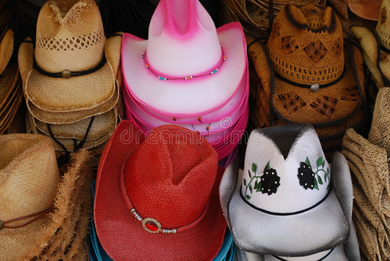Chapéus do Cowgirl foto de stock royalty free