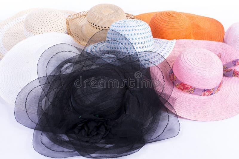 Chapéus do grupo imagens de stock
