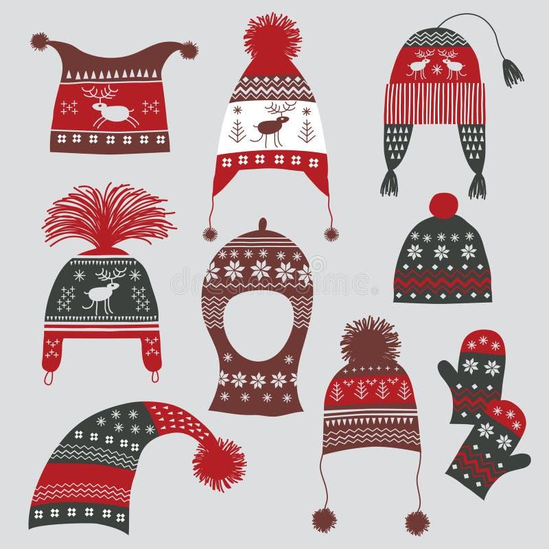 Chapéus do inverno ilustração royalty free