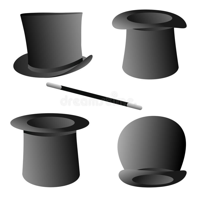 Chapéus do mágico ilustração royalty free