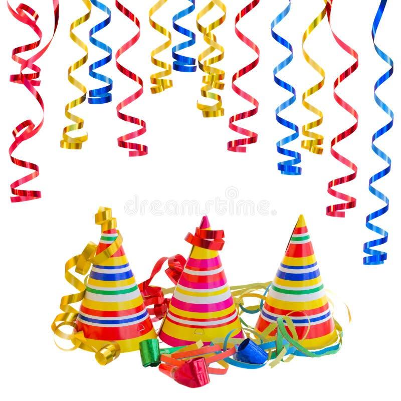Download Chapéus E Serpentina Para O Carnaval Imagem de Stock - Imagem de divertimento, ocasião: 65575157