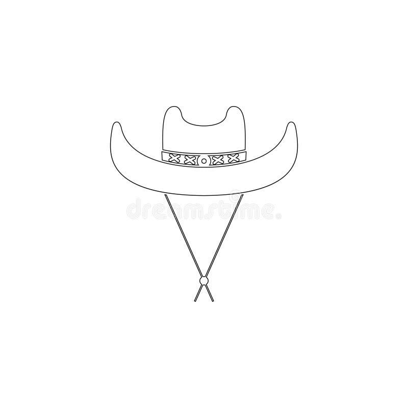 Chap?u de cowboy ?cone liso do vetor ilustração stock