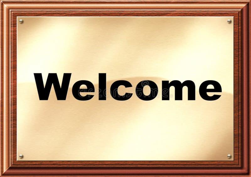 Chapa bem-vinda do hotel imagem de stock royalty free