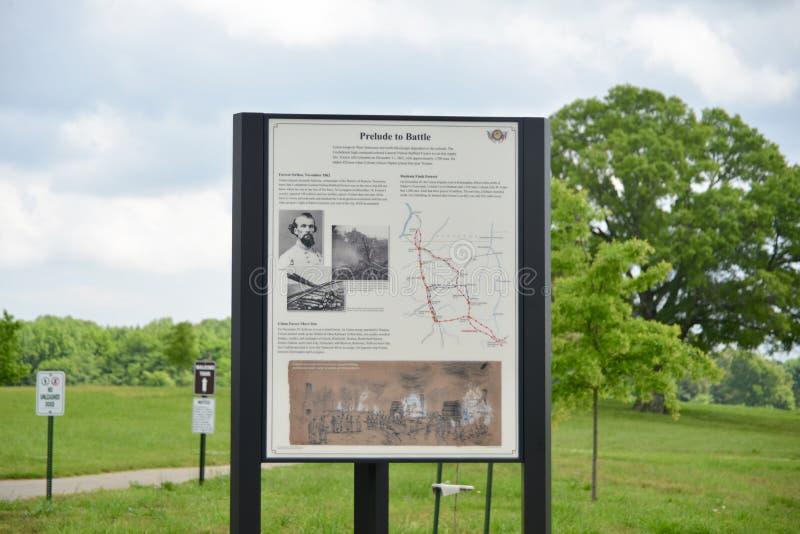 Chapa da guerra civil nas estradas transversaas do ` s de Parker, TN foto de stock royalty free