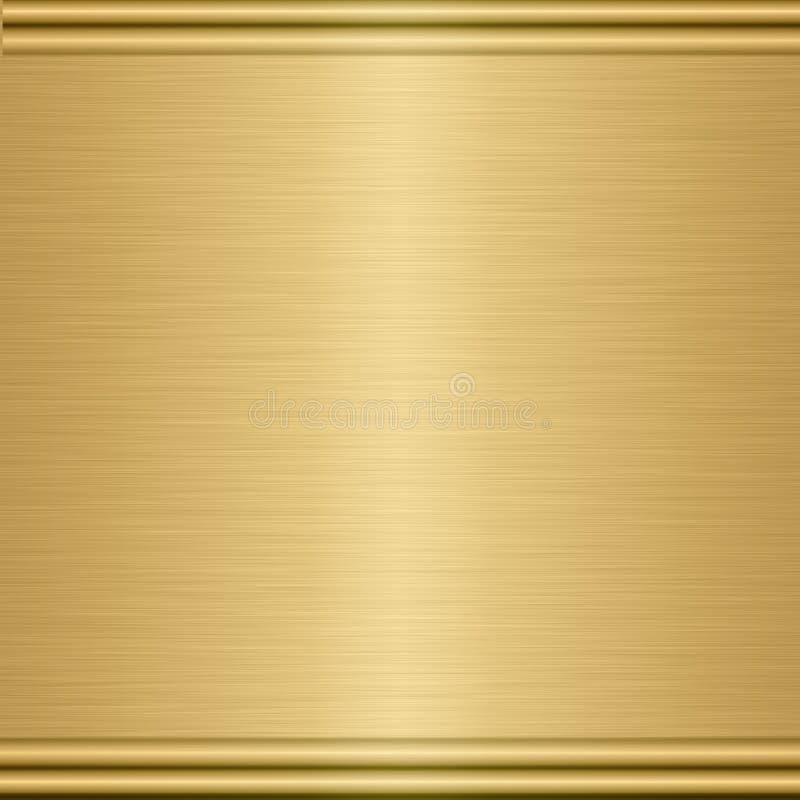 chapa da textura do metal do ouro ilustração stock