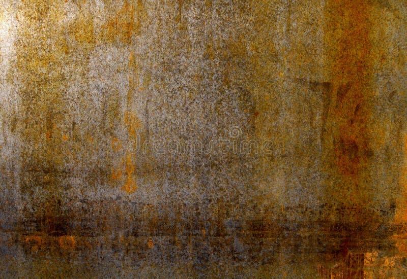 Chapa de aço textured oxidada do metal fotos de stock
