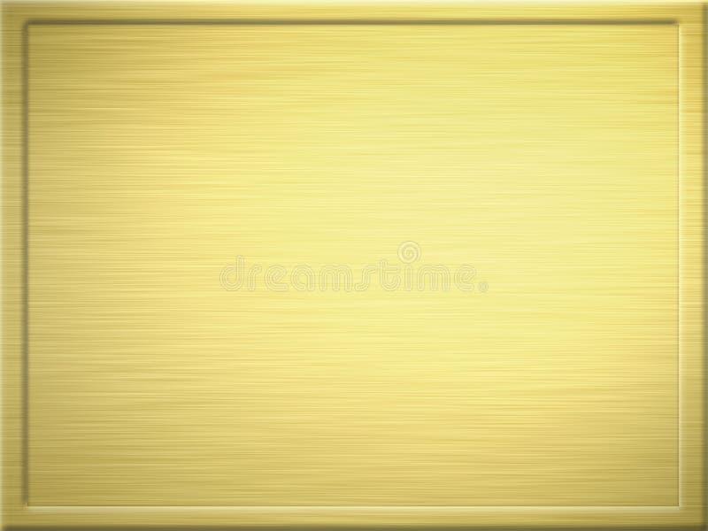Chapa de metal escovada do ouro ilustração stock
