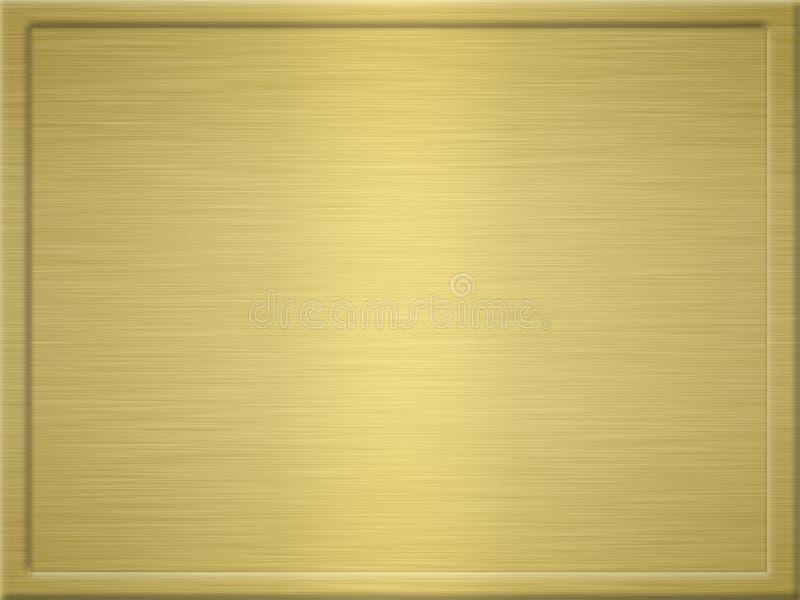 Chapa de metal escovada do ouro ilustração royalty free