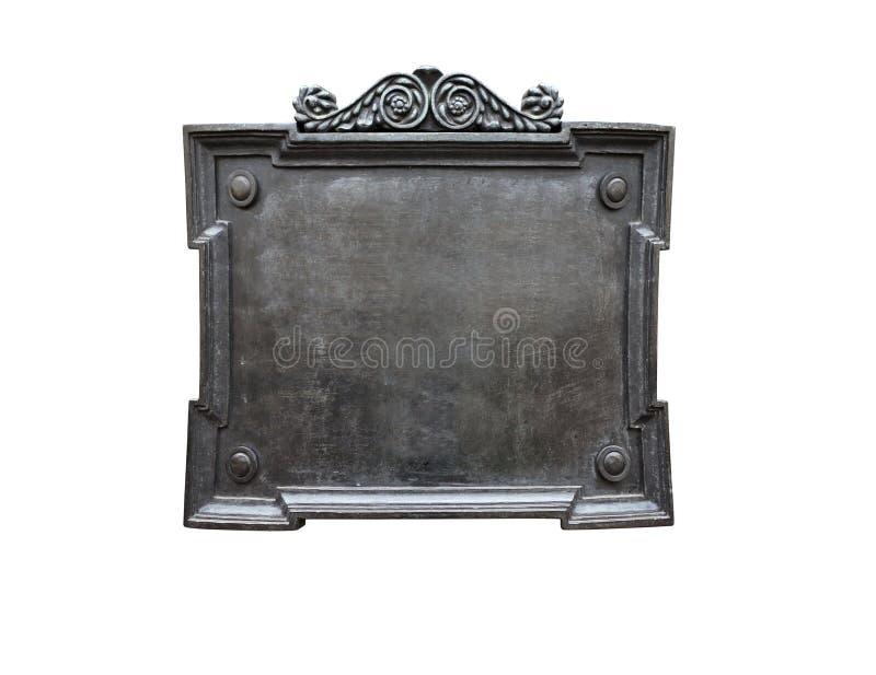 Chapa de metal velha foto de stock royalty free