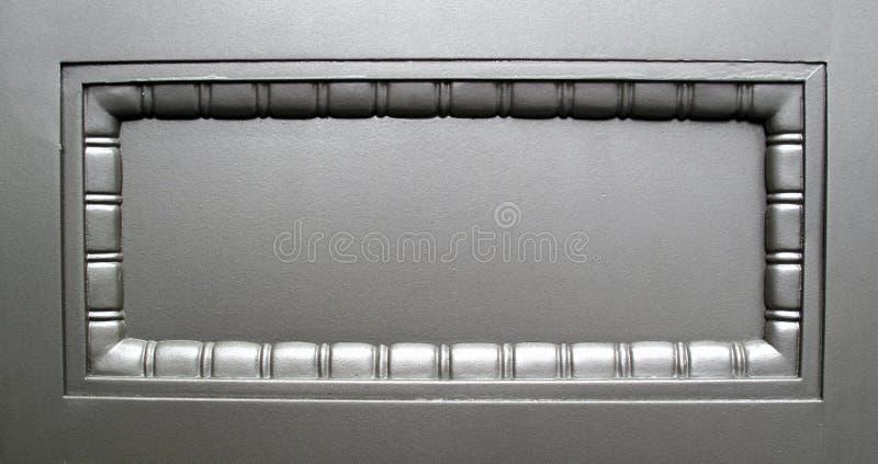 Chapa de prata com quarto para a mensagem fotografia de stock royalty free