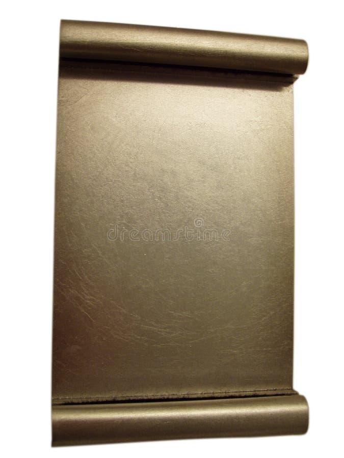 Chapa em branco da concessão do ouro - isolada imagens de stock