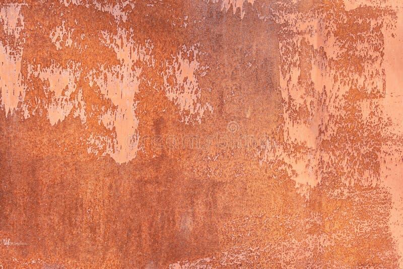 Chapa met?lica oxidada velha Close up da textura Fundo abstrato incomum para a disposição foto de stock