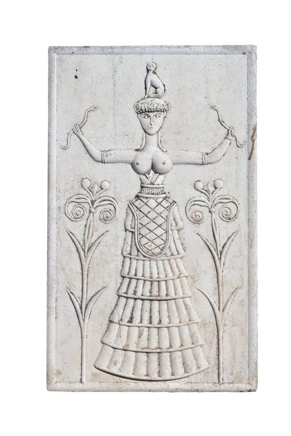 Chapa minoan antiga do console de Crete imagens de stock royalty free