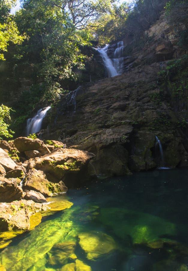 Chapada das Mesas,巴西的山区,Poço Azul蓝池 库存图片