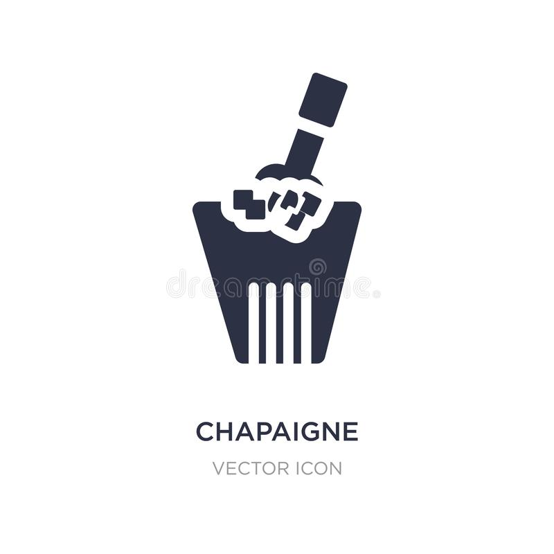 chapaigne bottle in bucket icon on white background. Simple element illustration from Party concept stock illustration