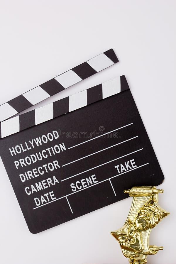 Chapaleta de teatro de la máscara y de la película fotos de archivo libres de regalías