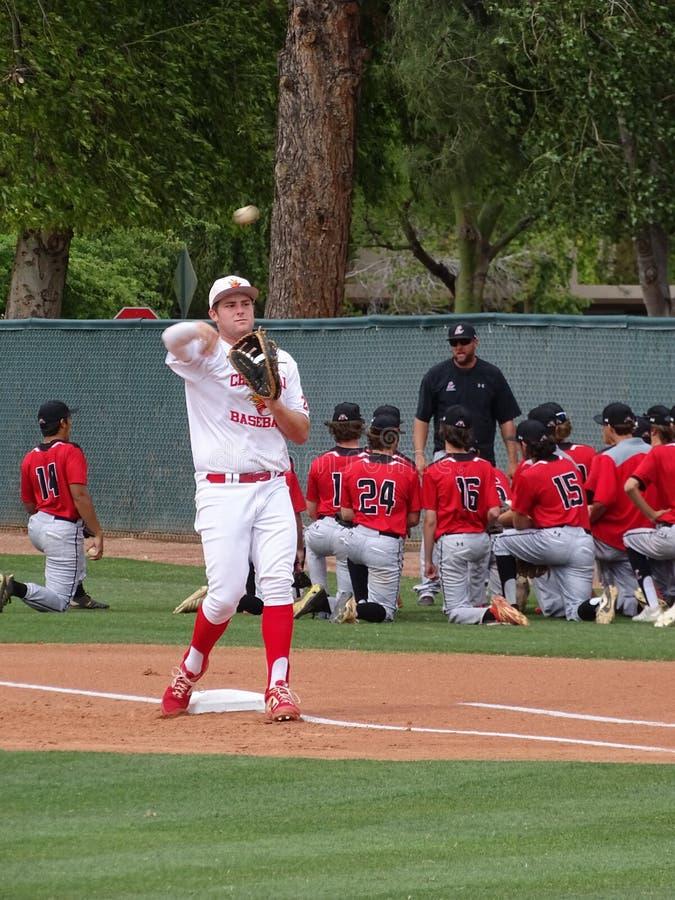 2019 Chaparral Firebird Baseball vs. Liberty Lions stock photography