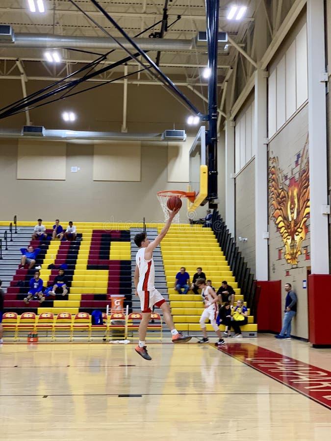 2018-19 Chaparral Firebird Basketball vs. Sandra Day O`Connor Eagles stock photography