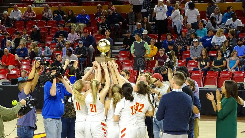 2018 AIA Basketball State Championship - Chaparral vs. Mesquite royalty free stock images