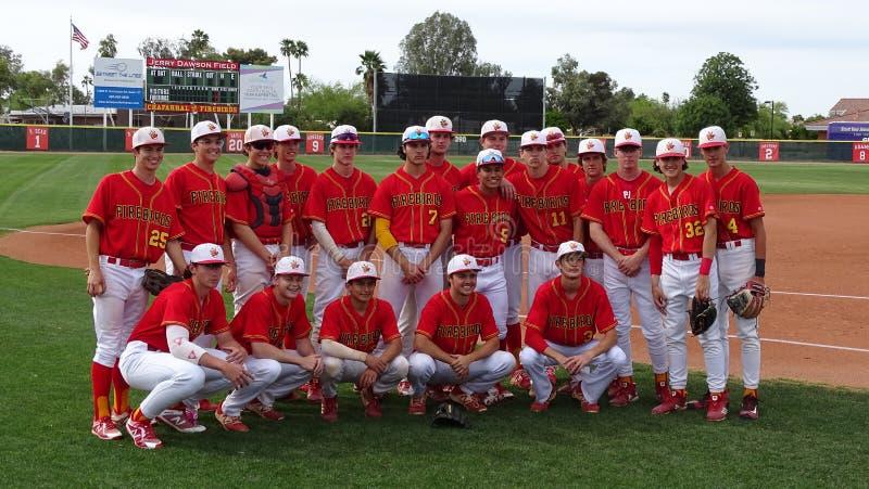 ChaparralFirebird baseball 2019 vs H?jdpunktbanbrytare royaltyfria foton