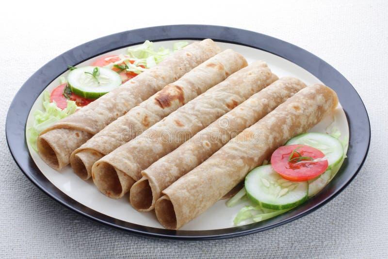 Chapati ρόλοι στοκ φωτογραφίες με δικαίωμα ελεύθερης χρήσης