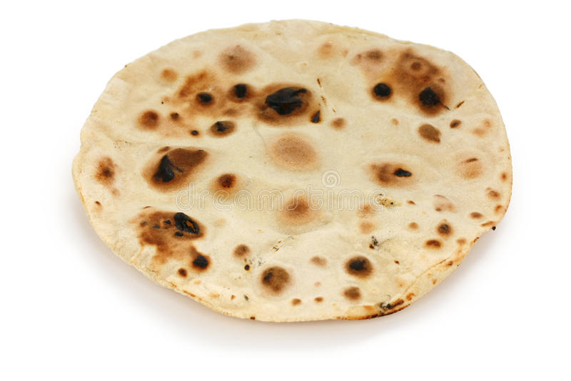 Chapati, flatbread unleavened indiano foto de stock royalty free