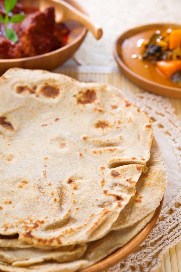 Chapati ou pain plat image libre de droits
