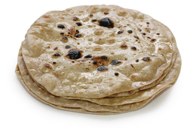 Chapati, pan indio plano imagen de archivo