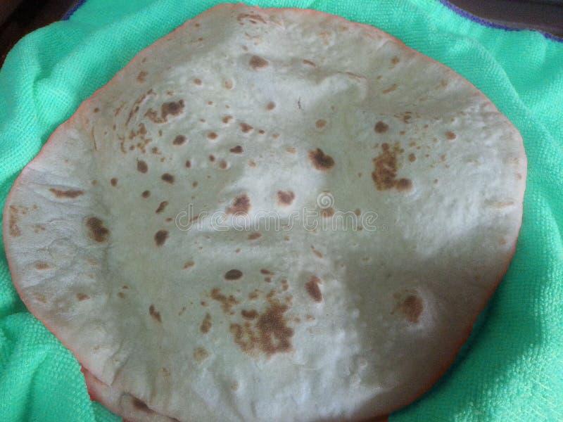 Chapati roti/fulka/paratha ολόκληρο επίπεδο ψωμί σίτου στοκ φωτογραφία με δικαίωμα ελεύθερης χρήσης