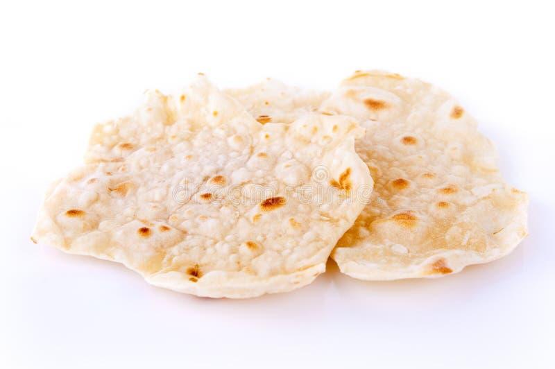 Chapatti ή ινδικό Roti στοκ εικόνες